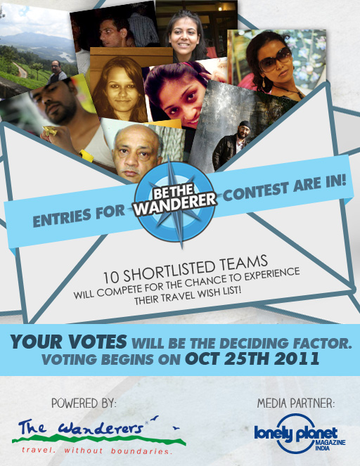 Be the Wanderer - shortlisted team voting