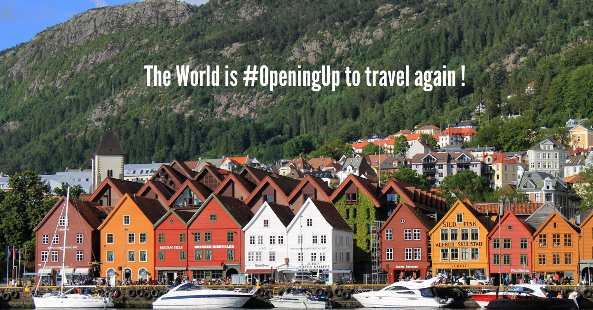 The World is #OpeningUp to travel again !