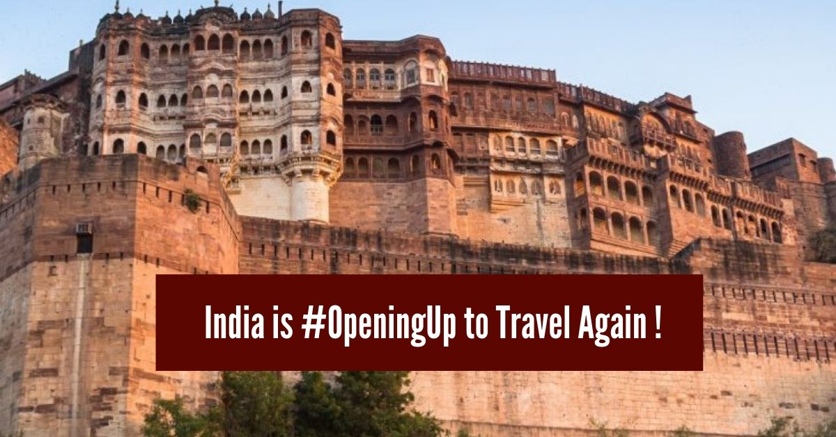 India is #OpeningUp to travel again !