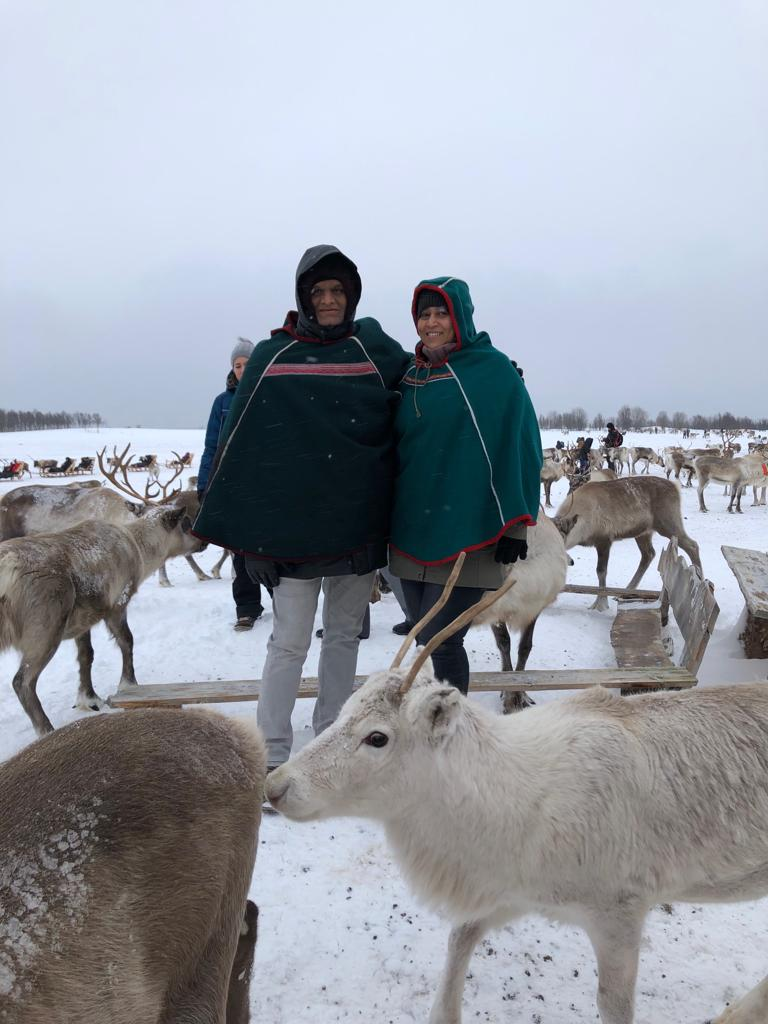 I would like to thank Carolyne & Ravindra from Wanderers who planned our trip.  All the arrangements were excellent. The Wanderers suggested that we should travel to Tromsø and we thoroughly enjoyed the weather and snow. The huski and reindeer rides were once in a lifetime experience.